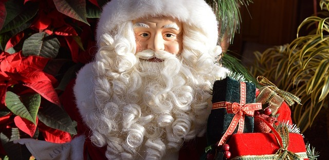santa claus victorian toy figure