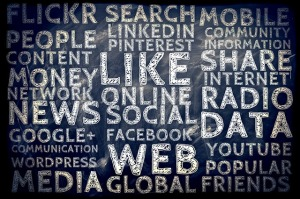 social media collage